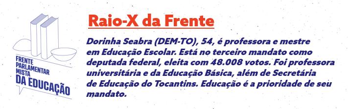Deputada Prof. Dorinha Seabra (DEM-TO) quer educação como prioridade nacional